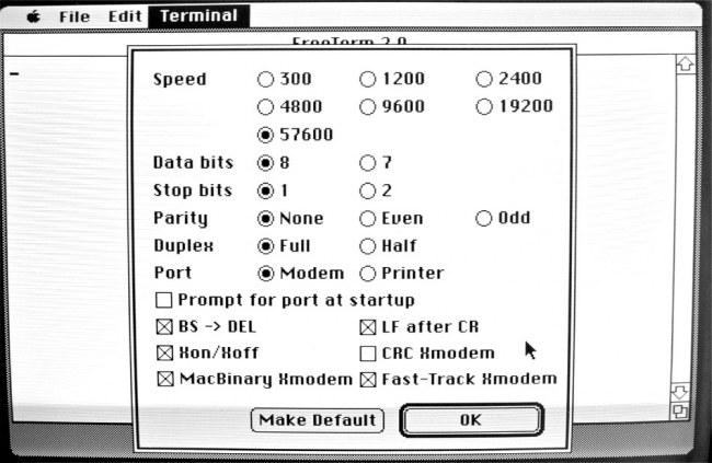 Mac GUI :: Using FreeTerm 2 0 for Terminal Emulation and XMODEM